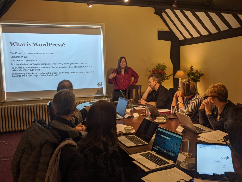 Delivering a WordPress course in Aylesbury